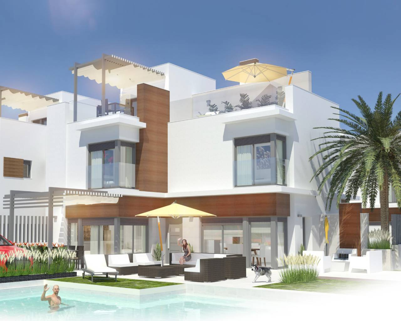Semi Detached Villa - New Build - Santiago de la Ribera - Santiago de la Ribera